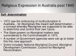 religious expression in australia post 194536