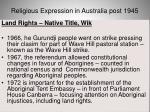 religious expression in australia post 194540