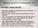 religious expression in australia post 194541