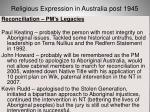 religious expression in australia post 194546