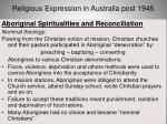 religious expression in australia post 194549