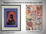 religious expression in australia post 194552