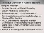 religious expression in australia post 194556