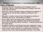 religious expression in australia post 194560