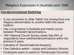 religious expression in australia post 194566