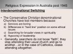 religious expression in australia post 194568
