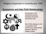 religious expression in australia post 194569