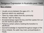 religious expression in australia post 19457