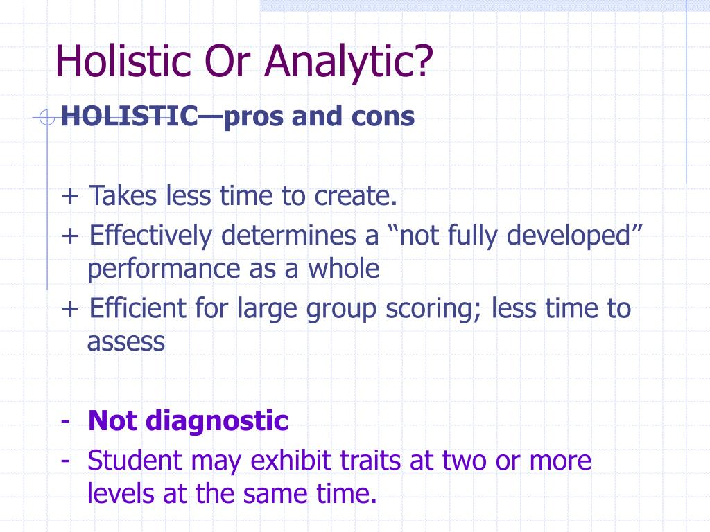 Holistic Or Analytic?