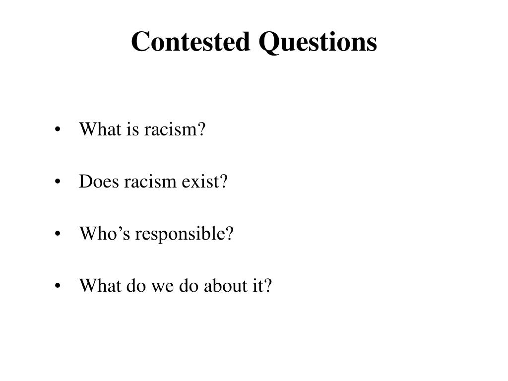 Contested Questions