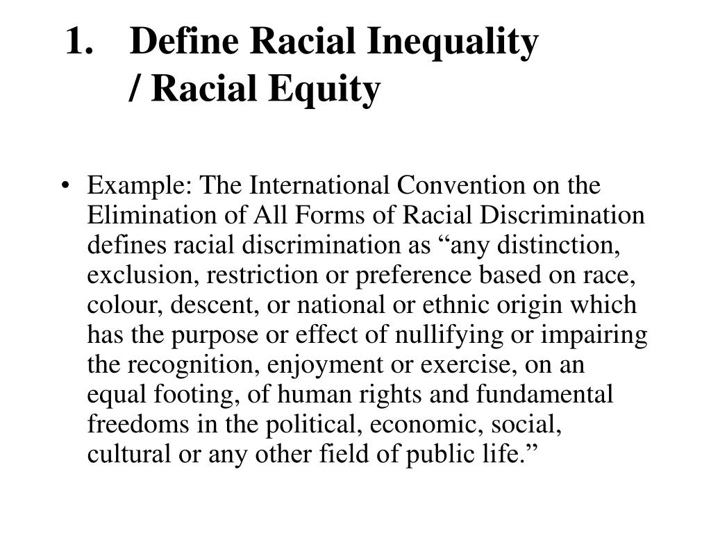 Define Racial Inequality