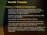 health trauma