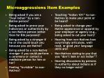 microaggressions item examples