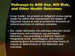 pathways to aod use hiv risk and other health outcomes