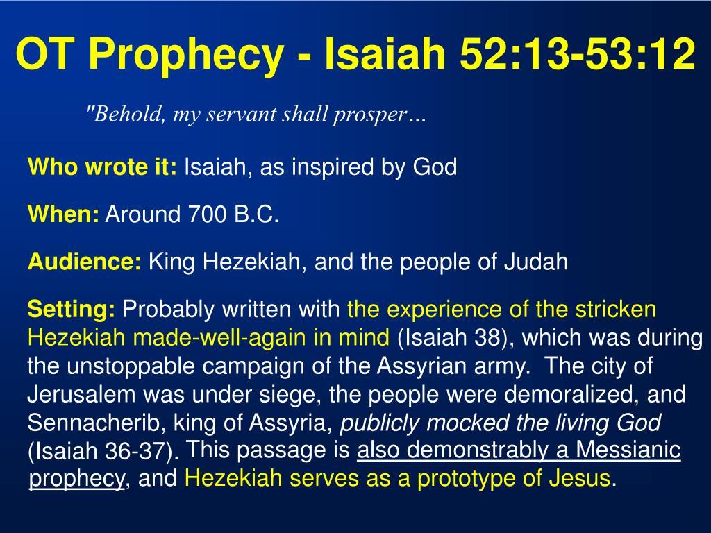 OT Prophecy - Isaiah 52:13-53:12