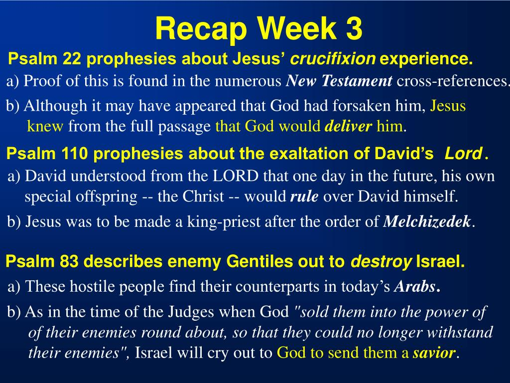 Recap Week 3