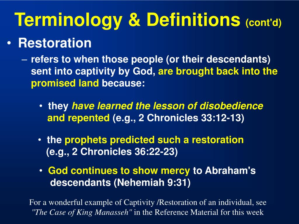 Terminology & Definitions