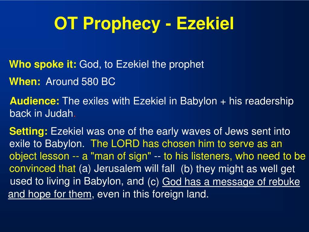 OT Prophecy - Ezekiel