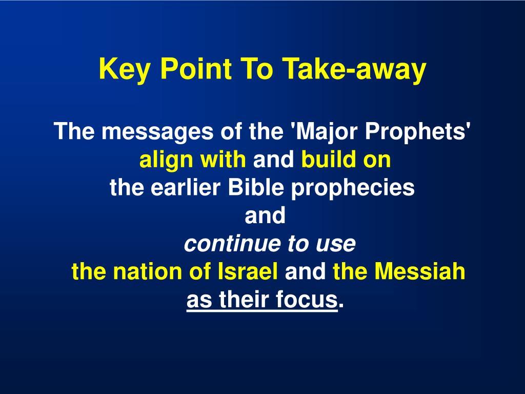 Key Point To Take-away