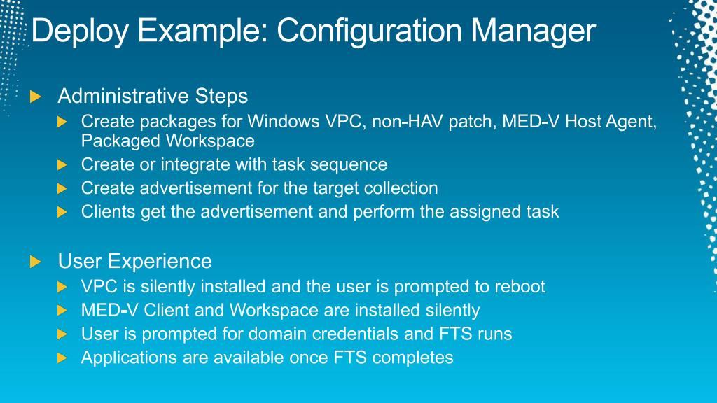 Deploy Example: Configuration Manager