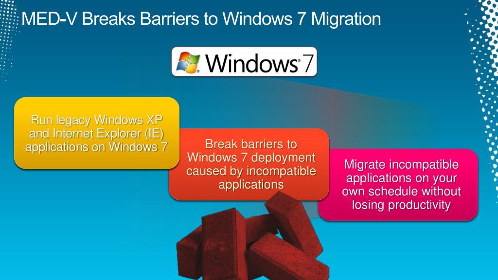 MED-V Breaks Barriers to Windows 7 Migration