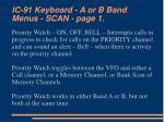 ic 91 keyboard a or b band menus scan page 1