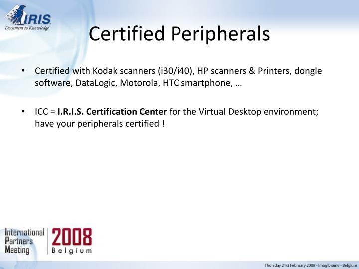 Certified Peripherals