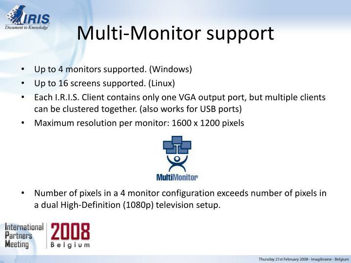 Multi-Monitor support