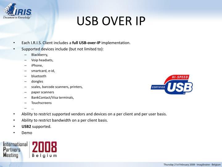 USB OVER IP