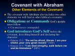 covenant with abraham other elements of the covenant