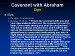 covenant with abraham sign