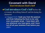 covenant with david god introduces god s self