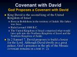 covenant with david god proposes a covenant with david