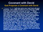 covenant with david god proposes a covenant with david42