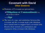 covenant with david other elements