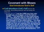 covenant with moses god introduces god s self