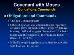 covenant with moses obligations commands