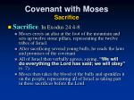 covenant with moses sacrifice