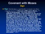 covenant with moses sign