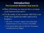 introduction the covenant between god and us9