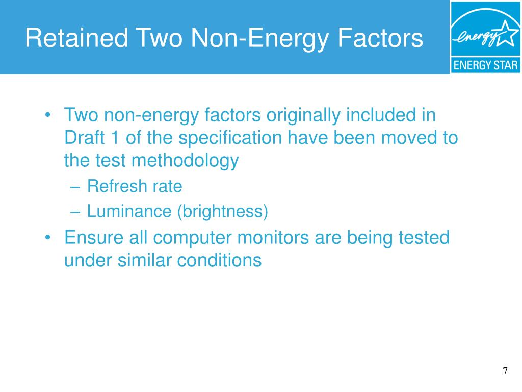 Retained Two Non-Energy Factors