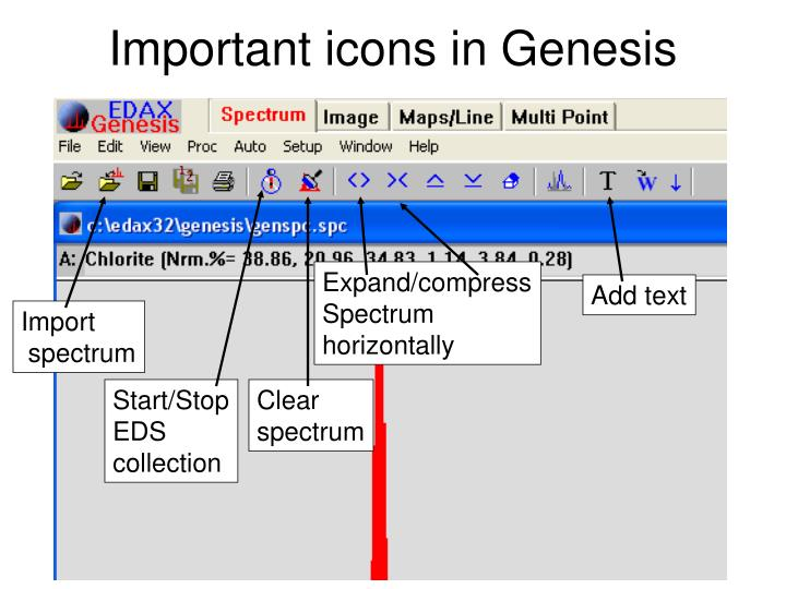 Important icons in Genesis
