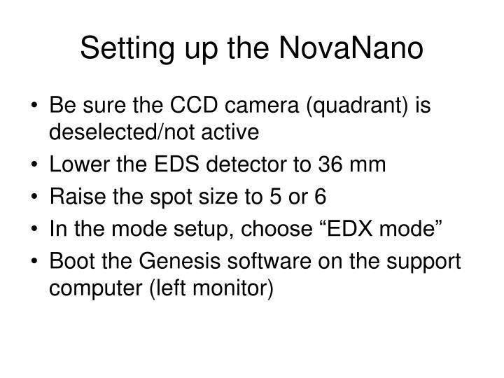 Setting up the NovaNano
