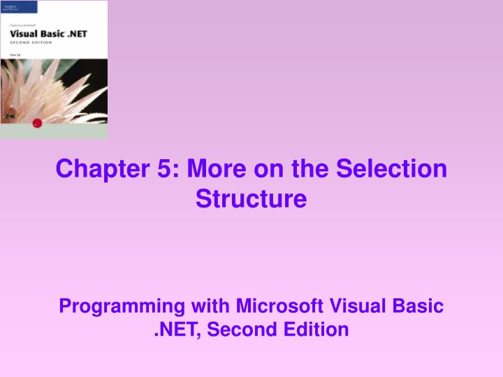 chapter 5 more on the selection structure