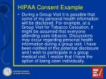 hipaa consent example