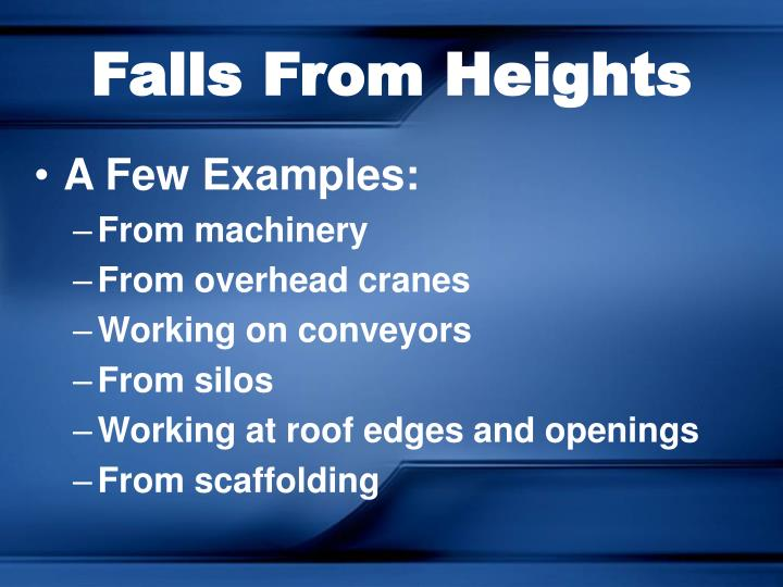 Falls From Heights