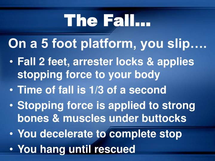 The Fall...