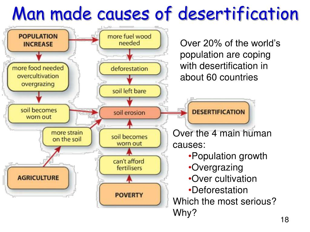Man made causes of desertification