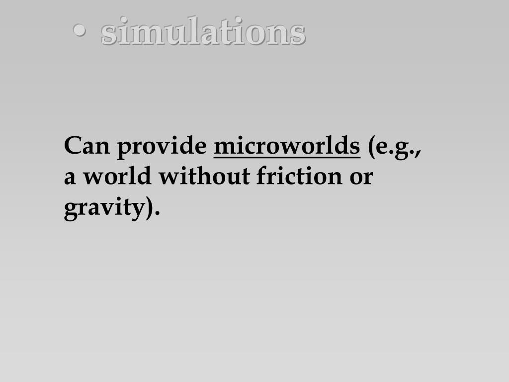 • simulations