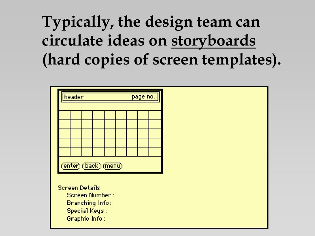 Typically, the design team can